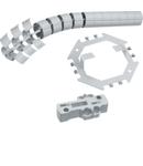 Protecție verticală cablu, flexibilă, 800mm, RAL7021