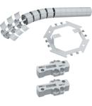 Protecție verticală cablu, flexibilă, 800mm, RAL7035