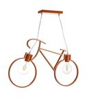 Bicicleta de lampa a Corp de iluminat suspendatului portocaliu