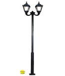 Stalp metalic DECORATIV 3 METRI TOBIA 2X50W LED