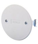 ROUND FLUSH MOUNTING BOX LID - Ø 65mm - WHITE - WITH EXPANSION