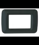 Placa ornament Negru 3 module