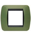 Placa ornament 2 module Verde Bticino Living