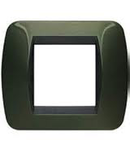 Placa ornament 3 module Verde metalizat Bticino Living