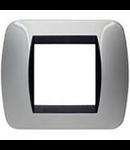 Placa ornament 7 module Aluminiu  Bticino Living