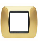 Placa ornament 3 module Auriu Bticino Living