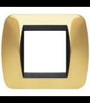 Placa ornament 7 module Auriu Bticino Living
