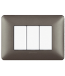 Placa ornament 6 module Metalizat Fier  Bticino Matix