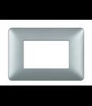 Placa ornament 3 module Argintiu Bticino Matix