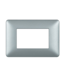 Placa ornament 6 module Argintiu Bticino Matix