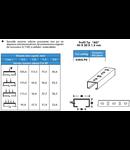 Profil C pentru suspendare pat metalic 40x40x2,0