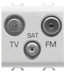 Priza TV-FM-SAT - DIRECT - 2 MODULES - TITANIUM - CHORUS