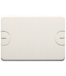 Capac ornament pentru doza modulara  - 6 module(3+3 OVERLAPPING) - WITH SCREW - CLOUD WHITE
