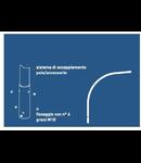 BRAT CURBAT SIMPLU - Raza de curbura 500 mm - inclinare 5 grade 1500x1500