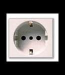 Priza schuko alba 16A 2 module Ave 45