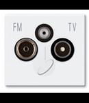 Priza TV-FM-SAT 4-2400 Mhz 2 mod alb Ave 45