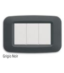 Placa ornament 3 module  Negru Gri Ave  Yes 45