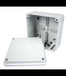 Doza aparenta - IP56 - dimensiuni interioare 100X100X50 - SMOOTH WALLS - GREY RAL 7035