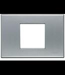 Placa ornament 7 module Aluminiu Natural Bticino