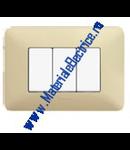 Placa ornament 2 module Alb Pastel  Matix
