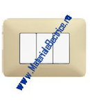 Placa ornament 3 module Alb Pastel  Matix