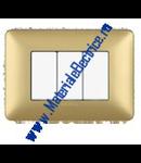 Placa ornament 2 module Aur mat Bticino  Matix