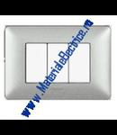 Placa ornament 3 module Alb Var Bticino  Matix