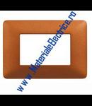 Placa ornament 3 module Teracota  Bticino  Matix