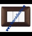 Placa ornament 3 module Cafeniu  Bticino  Matix