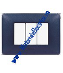 Placa ornament 2 module Albastru Mercur  Bticino Matix