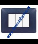 Placa ornament 4 module Albastru Mercur  Bticino Matix