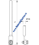 Air-termination/earth entry rod with connection tabs and connector | Type 101 G1500