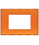 PLACA ORNAMENT 3 MODULE ORANGE GEL BTICINO