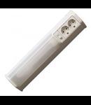 Lampa fluorescenta 30W cu  doua prize schuko si intrerupator