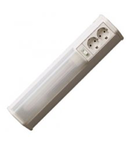 Lampa fluorescenta 18W cu  doua prize schuko si intrerupator