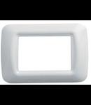 Placa ornament alb 4 module Gewiss System