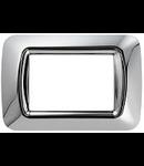 Placa ornament Crom soft  4 module Gewiss System