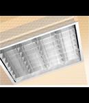 LAMPA ST 2X18 W METACRILAT MULTILENTICULAR CU RAMA DIN ALUMINIU - ALMA