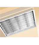 LAMPA ST 2X18 W METACRILAT OPAL CU RAMA DIN ALUMINIU - ALMA