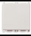 Intrerupator cruce Vimar(Plana) 2 module alb