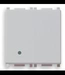 Intrerupator cruce Vimar(Plana) 2 module silver