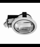 Spot downlight cu reflector H-7000, crom satin
