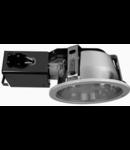 Downlight cu reflector 8032XE, 2X13W, silver