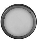Plafoniera Plafon 30, crom satin/alb matt, 1x60W, E27