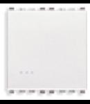 Intrerupator simplu 2 module Vimar (Eikon) alb