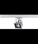 Floodlight,3PH 102 LED,silvergrey,10W LED,white,3-ph-adapter