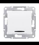 Intrerupator cruce cu LED 10 AX SEDNA SCHNEIDER aluminiu