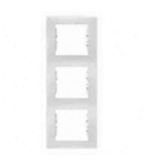 Rama verticala, 3 posturi SEDNA SCHNEIDER, alb