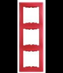 Rama verticala, 3 posturi SEDNA SCHNEIDER, rosu