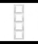 Rama verticala, 4 posturi SEDNA SCHNEIDER, alb